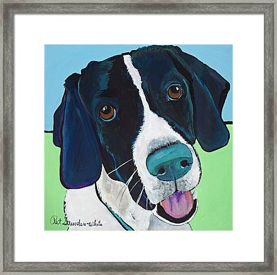 Ruger Framed Print by Pat Saunders-White