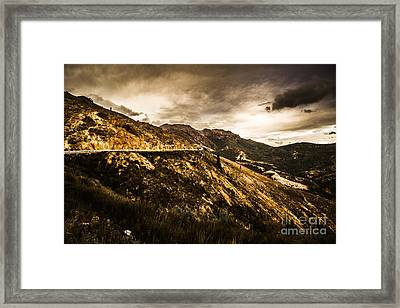 Rugged And Intense Mountain Background Framed Print