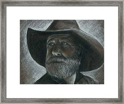 Rugged Blue Eyed Cowboy Framed Print