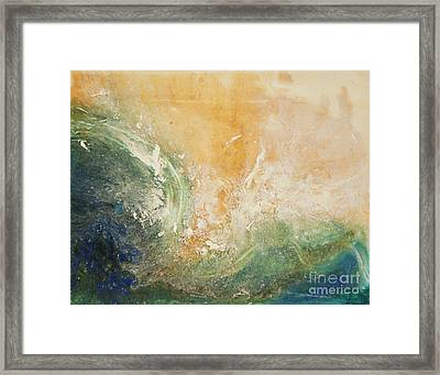 Rugged Coast Aerial View Framed Print
