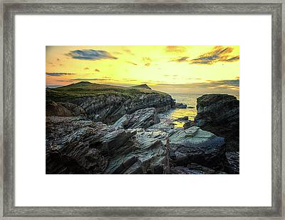 Rugged Coast Framed Print by Martin Newman