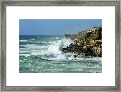 Framed Print featuring the photograph Rugged Coastal Seascape by Marion McCristall