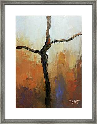 Rugged Cross Framed Print by Mike Moyers