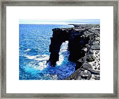 Rugged Kona Sea Arch Framed Print by Amy McDaniel