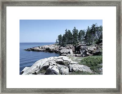 Rugged Maine Coastline Framed Print
