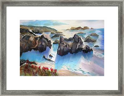 Marin Lovers Coastline Framed Print