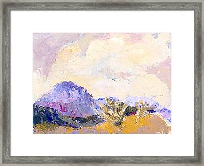 Rugged Territory Framed Print