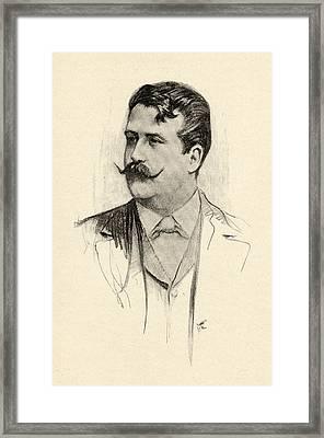 Ruggero Leoncavallo, 1857-1919. Italian Framed Print by Vintage Design Pics