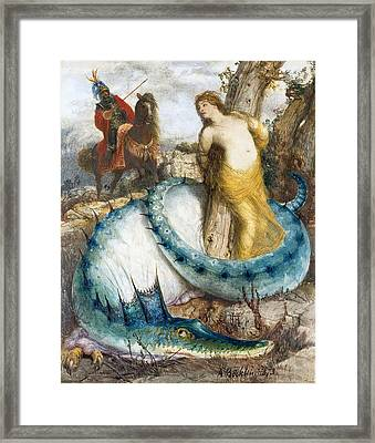 Ruggiero And Angelica Framed Print by Arnold Boecklin