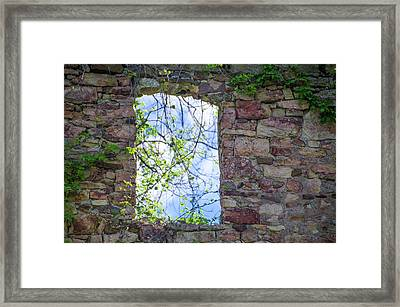 Framed Print featuring the photograph Ruin Of A Window - Bridgetown Millhouse  Bucks County Pa by Bill Cannon