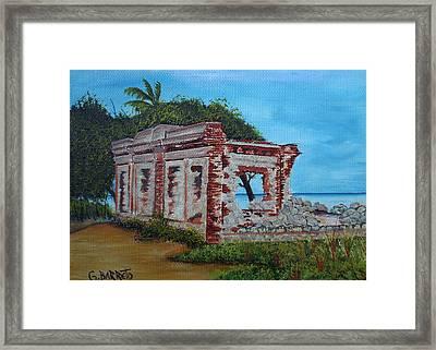 Ruinas Del Faro En Aguadilla Framed Print