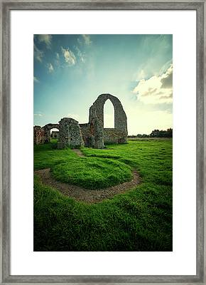 Ruined Abbey Framed Print by Svetlana Sewell