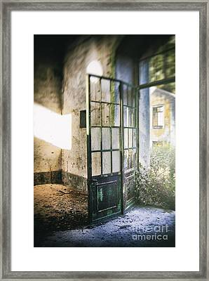 Ruined Door Framed Print by Carlos Caetano