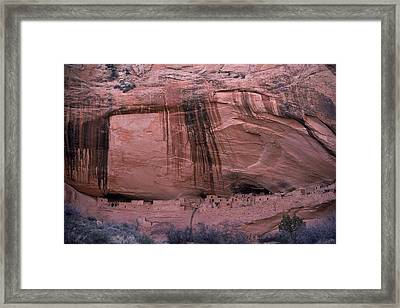 Ruined Dwelling Of Ancient Pueblo Framed Print by Ira Block