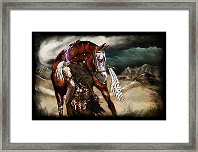 Ruined Empires - Skin Horse  Framed Print by Mandem