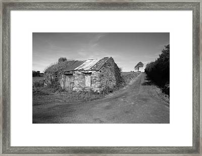Ruined Irish Cottage Framed Print by John Quinn