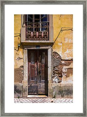 Ruined Yellow House Framed Print