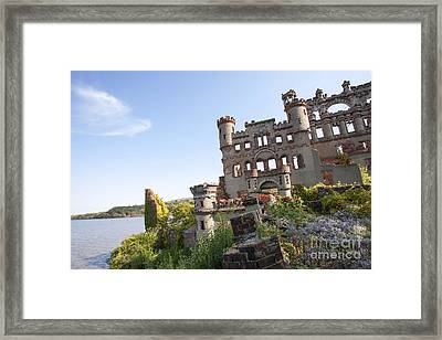 Ruinis Of Castle By River Framed Print