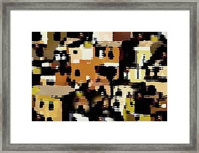 Ruins, An Abstract Framed Print