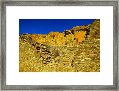 Ruins And Rock Framed Print