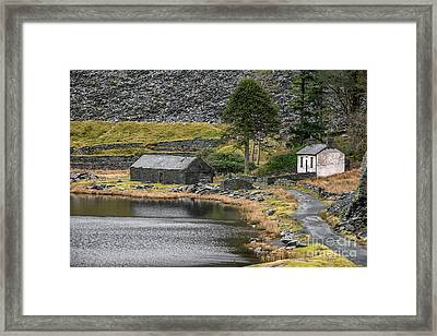 Framed Print featuring the photograph Ruins At Cwmorthin by Adrian Evans