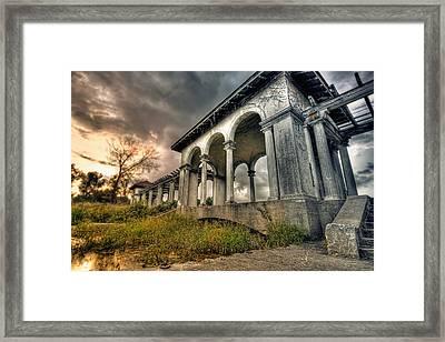 Ruins At Dusk Framed Print by Ryan Heffron