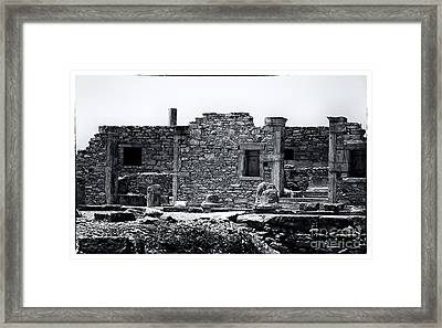 Ruins At The Sanctuary Of Apollo Hylates Framed Print by John Rizzuto