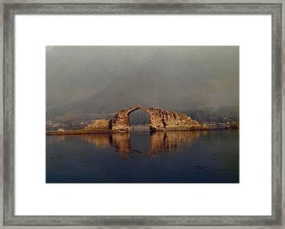 Ruins Framed Print by Gila Rayberg