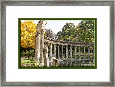 Framed Print featuring the photograph Ruins In The Park by Victoria Harrington