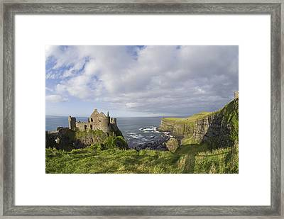 Ruins Of 13th Century Medieval Dunluce Framed Print by Rich Reid