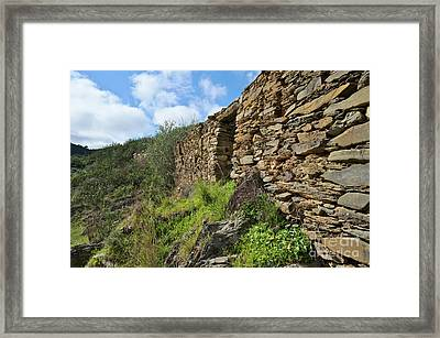 Ruins Of A Schist Cottage In Alentejo Framed Print by Angelo DeVal