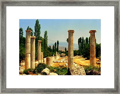 Ruins Of  Aphrodisias Framed Print
