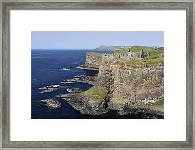 Ruins Of Dunluce Castle On The Sea Cliffs Of Northern Ireland Framed Print by Pierre Leclerc Photography