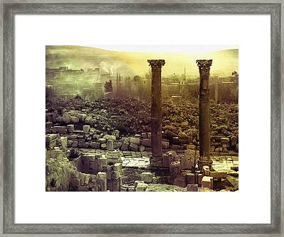 Framed Print featuring the photograph Ruins Of Jurash by Robert G Kernodle