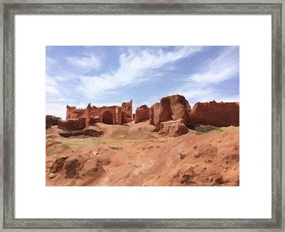 Ruins Of Kasbah Telouet  Framed Print by Carrie Kouri