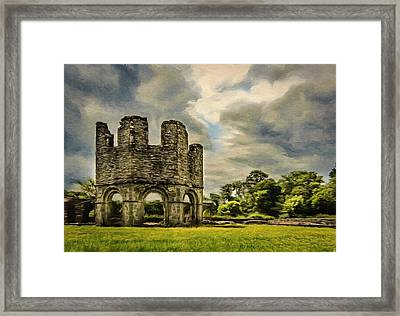 Ruins Of Mellifont Abbey Framed Print by Jeff Kolker