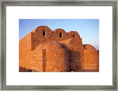 Ruins Of Qasr Amra In Jordan Framed Print by Sami Sarkis