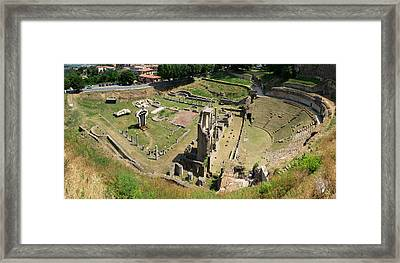 Ruins Of Roman Theater, Volterra Framed Print by Panoramic Images