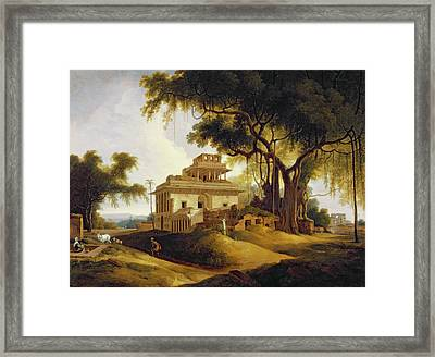 Ruins Of The Naurattan Framed Print by Thomas Daniell