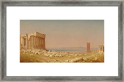Ruins Of The Parthenon Framed Print by Sanford Robinson Gifford