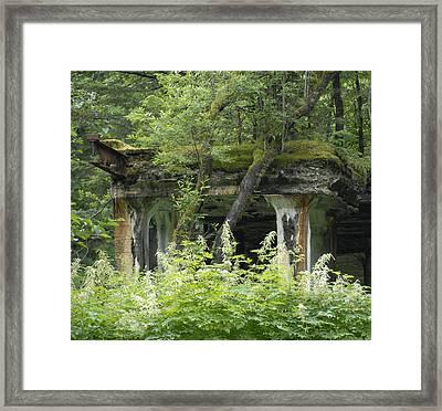 Ruins Of Treadwell Mines Framed Print
