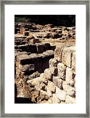 Ruins Of Zippori Framed Print by Thomas R Fletcher