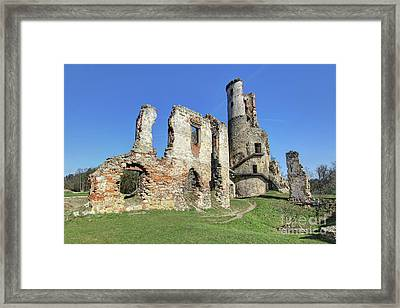 Framed Print featuring the photograph Ruins Of Zviretice Castle by Michal Boubin