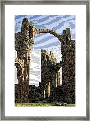 Ruins On The Holy Island Framed Print by Carl Purcell