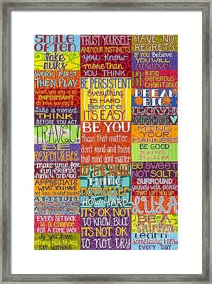 Framed Print featuring the painting Rules  by Carla Bank