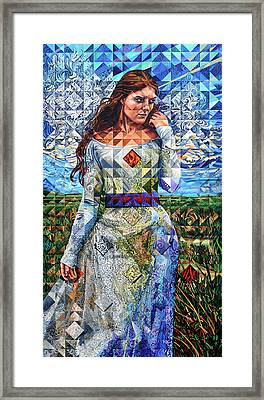 Framed Print featuring the painting Rules Of Refraction by Greg Skrtic