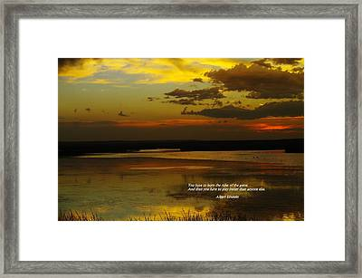 Rules Of The Game Framed Print by Jeff Swan