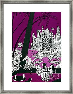Rum And Cokes In Puerto Rico  Framed Print by Donovan OMalley