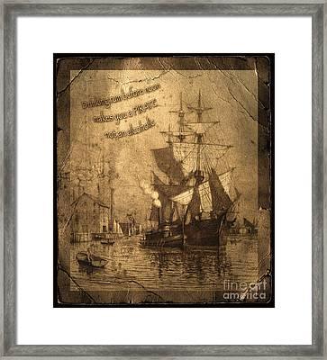 Rum Is The Reason Framed Print by John Stephens
