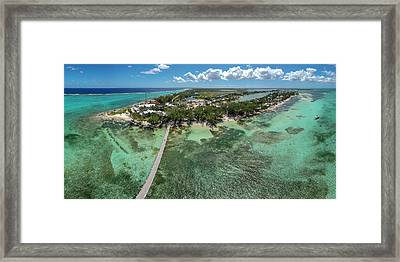 Rum Point Beach Panoramic Framed Print